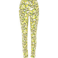 Yellow lemon print Lana superskinny jeans