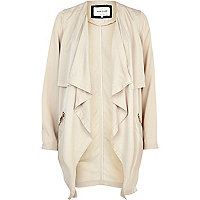 Cream lightweight waterfall jacket