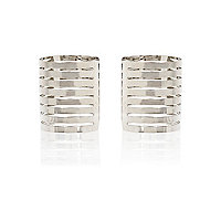 Silver tone cut out cuffs pack