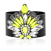 Fluro yellow gem stone jelly bracelet
