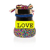 Mixed love bangle pack