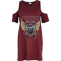 Red Phoenix Arizona cold shoulder t-shirt