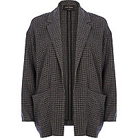 Grey check oversized jacket