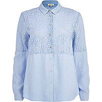 Light blue burnout panel shirt