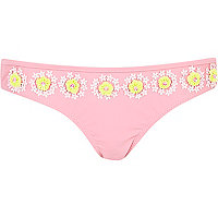 Light pink Pacha beaded bikini bottoms
