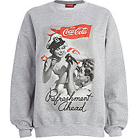 Grey Coca Cola print sweatshirt