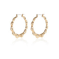 Gold tone creole hoop earrings