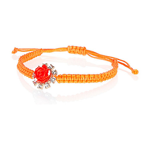 Coral 3D rose friendship bracelet