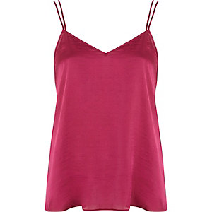 Pink v neck cami