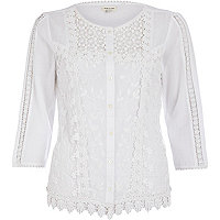 Cream victoriana blouse