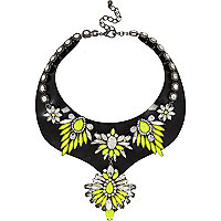Fluro yellow jelly statement necklace
