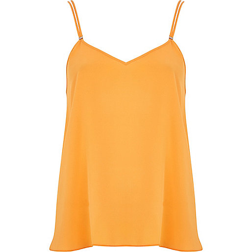 Orange V neck cami top