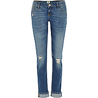 Light wash ripped Daisy slim jeans