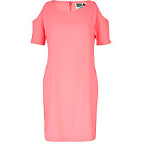 Pink Chelsea Girl cold shoulder dress