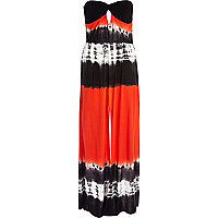 Orange tie dye Pacha maxi dress