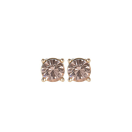 Light pink diamante stud earrings