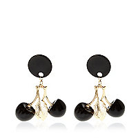 Black cherry drop earrings