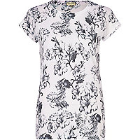 Light pink floral print t-shirt