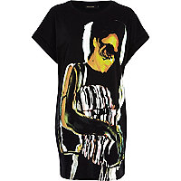 Black girl print oversized t-shirt