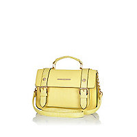 Yellow mini satchel