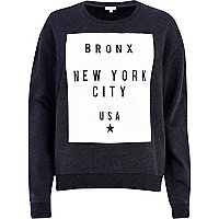 Dark grey Bronx New York print sweatshirt