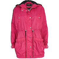 Bright pink anorak jacket