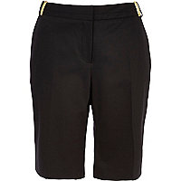 Black smart long boy shorts