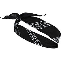 Black bandana hair band