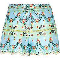 Blue Pacha jewel print embellished shorts