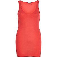 Pink V neck longline vest
