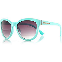 Light green oversized sunglasses