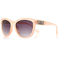 Light pink jewelled oversized sunglasses