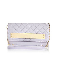 Lilac quilted cross body purse