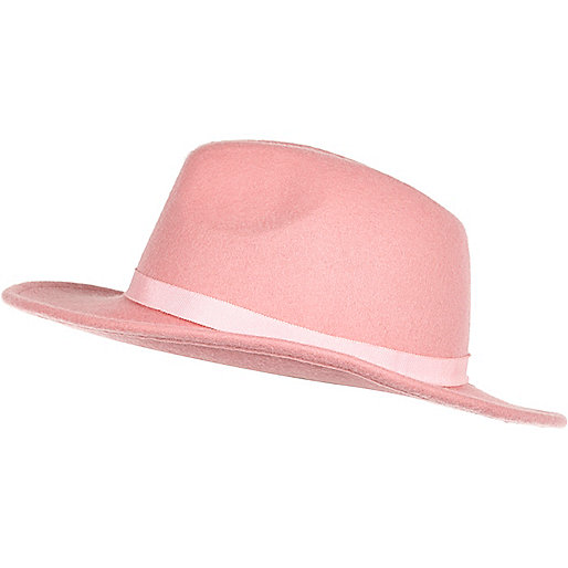 Light pink fedora hat