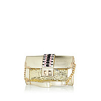 Gold jewelled underarm bag