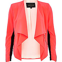 Bright pink waterfall jacket