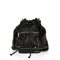 Black washed duffle bag