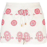 White Pacha embroidered shorts