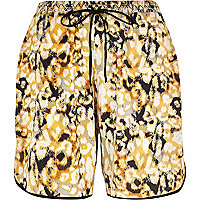 Yellow Pacha abstract print board shorts