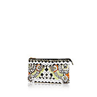 Black beaded clutch bag