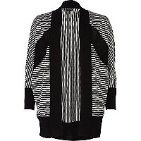Black and white stripe dolman cardigan