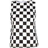 Black Chelsea Girl check tank top
