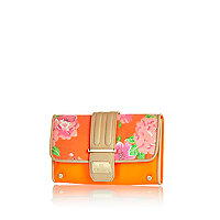 Orange floral print travel organiser