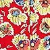 Red floral printed playsuit