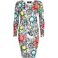 Neon Jaded London jewel print bodycon dress