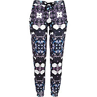 Blue Jaded London floral print joggers