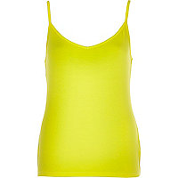 Bright yellow two way cami top