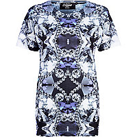 Blue Jaded London jewel print t-shirt