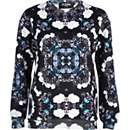 Black Jaded London flower print sweatshirt