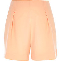 Light orange high waisted shorts